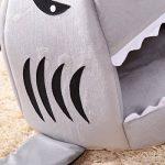 1ps Niche Maison en Forme Requin Lits Chaud Pour Chiot Chat Gris M de la marque Luwu-Store image 4 produit