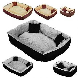Beauty Pet ® Panier, lit avec coussin pour chien et chat - 3 tailles, 2 coloris - Norme CE de la marque Beauty Pet image 0 produit