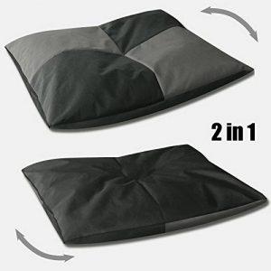 BedDog BONA 2en1, anthracite/gris, L env. 65x50 cm,Panier corbeille, lit pour chien, coussin de chien de la marque BedDog image 0 produit