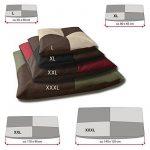BedDog BONA 2en1, anthracite/gris, L env. 65x50 cm,Panier corbeille, lit pour chien, coussin de chien de la marque BedDog image 3 produit