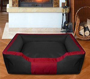 BedDog BRUNO, noir/rouge, XL env. 100x85 cm,Panier corbeille, lit pour chien, coussin de chien de la marque BedDog image 0 produit