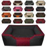 BedDog BRUNO, noir/rouge, XL env. 100x85 cm,Panier corbeille, lit pour chien, coussin de chien de la marque BedDog image 2 produit