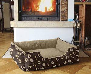 BedDog lit pour chien LUPI, brun/beige, L env. 75x55 cm,Panier corbeille, coussin de chien de la marque BedDog image 0 produit