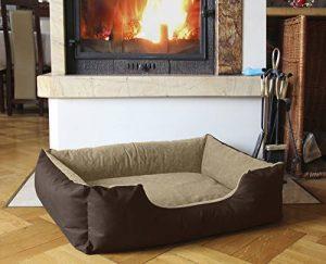 BedDog lit pour chien LUPI, brun/beige, XXL env. 115x85 cm,Panier corbeille, coussin de chien de la marque BedDog image 0 produit