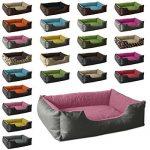 BedDog lit pour chien LUPI, gris/rose, XL env. 85x70 cm,Panier corbeille, coussin de chien de la marque BedDog image 2 produit
