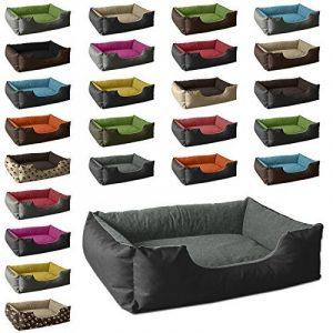 BedDog lit pour chien LUPI, noir/gris, XXL env. 115x85 cm,Panier corbeille, coussin de chien de la marque BedDog image 0 produit