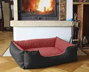 BedDog lit pour chien LUPI, noir/rouge, XL env. 85x70 cm,Panier corbeille, coussin de chien de la marque BedDog image 0 produit