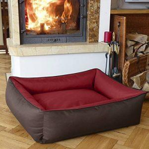 BedDog MAX DUO 2en1, rouge/brun, XXL env. 120x85 cm,Panier corbeille, lit pour chien, coussin de chien de la marque BedDog image 0 produit