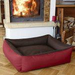 BedDog MAX DUO 2en1, rouge/brun, XXL env. 120x85 cm,Panier corbeille, lit pour chien, coussin de chien de la marque BedDog image 1 produit