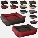 BedDog MAX DUO 2en1, rouge/brun, XXL env. 120x85 cm,Panier corbeille, lit pour chien, coussin de chien de la marque BedDog image 3 produit