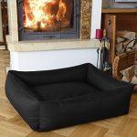 BedDog MAX, noir, XXXL env. 150x110 cm,Panier corbeille, lit pour chien, coussin de chien de la marque BedDog image 1 produit