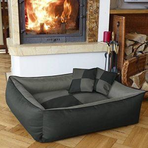 BedDog MAX QUATTRO 2en1, anthracite/gris, XL env.100x85 cm,Panier corbeille, lit pour chien, coussin de chien de la marque BedDog image 0 produit