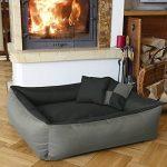 BedDog MAX QUATTRO 2en1, anthracite/gris, XL env.100x85 cm,Panier corbeille, lit pour chien, coussin de chien de la marque BedDog image 1 produit