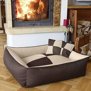 BedDog MAX QUATTRO 2en1, beige/brun, XXL env. 120x85 cm,Panier corbeille, lit pour chien, coussin de chien de la marque BedDog image 0 produit