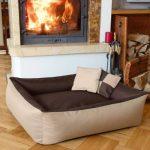 BedDog MAX QUATTRO 2en1, beige/brun, XXL env. 120x85 cm,Panier corbeille, lit pour chien, coussin de chien de la marque BedDog image 1 produit