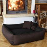BedDog MAX QUATTRO 2en1, noir/brun, XXL env. 120x85 cm,Panier corbeille, lit pour chien, coussin de chien de la marque BedDog image 1 produit