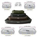 BedDog MAX QUATTRO 2en1, noir/brun, XXL env. 120x85 cm,Panier corbeille, lit pour chien, coussin de chien de la marque BedDog image 2 produit