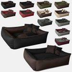 BedDog MAX QUATTRO 2en1, noir/brun, XXL env. 120x85 cm,Panier corbeille, lit pour chien, coussin de chien de la marque BedDog image 3 produit