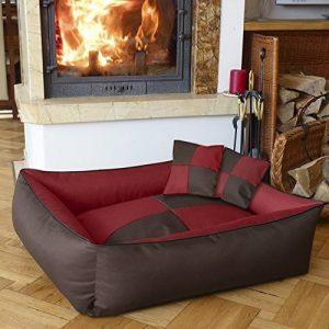 BedDog MAX QUATTRO 2en1, rouge/brun, XXL env. 120x85 cm,Panier corbeille, lit pour chien, coussin de chien de la marque BedDog image 0 produit