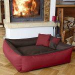 BedDog MAX QUATTRO 2en1, rouge/brun, XXL env. 120x85 cm,Panier corbeille, lit pour chien, coussin de chien de la marque BedDog image 1 produit