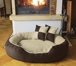 BedDog PRINS, Beige/Brun, XL 95x80 cm,Panier corbeille, lit pour chien, coussin de chien de la marque BedDog image 0 produit