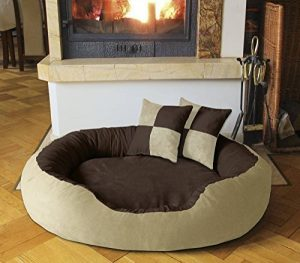 BedDog PRINS, Brun/Beige, XL 95x80 cm,Panier corbeille, lit pour chien, coussin de chien de la marque BedDog image 0 produit