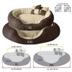 BedDog PRINS, Brun/Beige, XL 95x80 cm,Panier corbeille, lit pour chien, coussin de chien de la marque BedDog image 1 produit