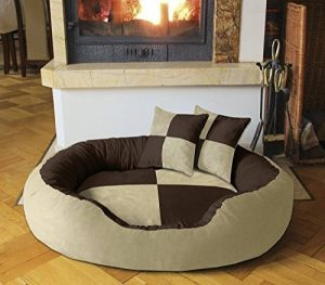 BedDog PRINS, Brun/Beige, XXL 120x95 cm,Panier corbeille, lit pour chien, coussin de chien de la marque BedDog image 0 produit