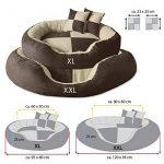 BedDog PRINS, Brun/Beige, XXL 120x95 cm,Panier corbeille, lit pour chien, coussin de chien de la marque BedDog image 1 produit
