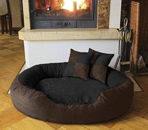 BedDog PRINS, Brun/Noir, XL 95x80 cm,Panier corbeille, lit pour chien, coussin de chien de la marque BedDog image 0 produit