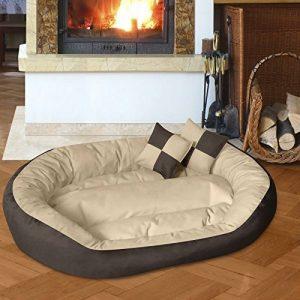 BedDog SABA 4en1, Beige/Brun, XXXL 150x120 cm, 7 couleurs au choix, Panier corbeille, lit pour chien, coussin de chien de la marque BedDog image 0 produit