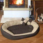 BedDog SABA 4en1, Beige/Brun, XXXL 150x120 cm, 7 couleurs au choix, Panier corbeille, lit pour chien, coussin de chien de la marque BedDog image 1 produit