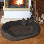 BedDog SABA 4en1, Noir/Brun, XXXL 150x120 cm, 7 couleurs au choix, Panier corbeille, lit pour chien, coussin de chien de la marque BedDog image 3 produit