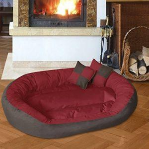 BedDog SABA 4en1, Rouge/Brun, XXXL 150x120 cm, 7 couleurs au choix, Panier corbeille, lit pour chien, coussin de chien de la marque BedDog image 0 produit