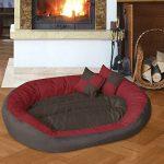 BedDog SABA 4en1, Rouge/Brun, XXXL 150x120 cm, 7 couleurs au choix, Panier corbeille, lit pour chien, coussin de chien de la marque BedDog image 1 produit