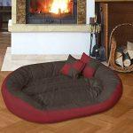BedDog SABA 4en1, Rouge/Brun, XXXL 150x120 cm, 7 couleurs au choix, Panier corbeille, lit pour chien, coussin de chien de la marque BedDog image 2 produit