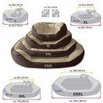 BedDog SABA 4en1, Rouge/Brun, XXXL 150x120 cm, 7 couleurs au choix, Panier corbeille, lit pour chien, coussin de chien de la marque BedDog image 4 produit