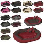 BedDog SABA 4en1, Rouge/Brun, XXXL 150x120 cm, 7 couleurs au choix, Panier corbeille, lit pour chien, coussin de chien de la marque BedDog image 5 produit