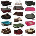 BedDog SABA 4en1, Rouge/Brun, XXXL 150x120 cm, 7 couleurs au choix, Panier corbeille, lit pour chien, coussin de chien de la marque BedDog image 6 produit