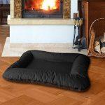 BedDog VERA 2en1, Noir/Brun, XXXL 135x120 cm, 7 couleurs au choix, Panier corbeille, lit pour chien, coussin de chien de la marque BedDog image 1 produit