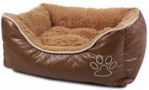 Bunny Business Grand panier pour chien en cuir et polaire taille XL 107 cm de la marque BUNNY BUSINESS image 0 produit