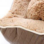 Bunny Business Grand panier pour chien en cuir et polaire taille XL 107 cm de la marque BUNNY BUSINESS image 1 produit