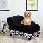 Canapé lit pour chien animaux domestiques avec rangement coussin déhoussable lavable velours 57L x 34l x 36Hcm noir neuf 45 de la marque Pawhut image 1 produit