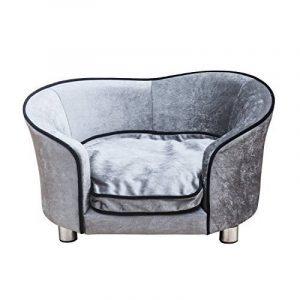 Canapé/Lit pour chien/chat canapé animaux avec accoudoir et dossier 69x49x38cm gris clair neuf16 de la marque Pawhut image 0 produit