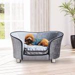 Canapé/Lit pour chien/chat canapé animaux avec accoudoir et dossier 69x49x38cm gris clair neuf16 de la marque Pawhut image 1 produit