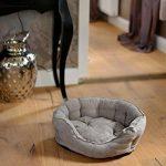 Canapé pour chien lit pour chien S, M, L ultra douce, gris, différentes tailles de la marque animal-design image 1 produit