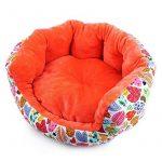 CoastaCloud Chenil Lit Niche de Chien Couchette Panier pour Animal Domestique en Velour Chaud Doux Orange Taille S de la marque CoastaCloud image 5 produit