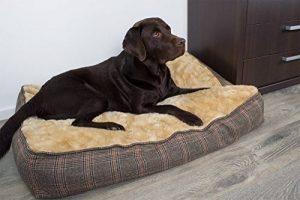 Coussin pour chien XL ultra-épais, aspect tweed, 100x70 cm, panier pour chien lavable de la marque SAUERLAND image 0 produit