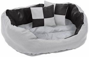 dibea Lit/Coussin/Canapé Lavable avec Coussin Réversible pour Chien Gris/Noir 65 x 50 x 20 cm de la marque dibea image 0 produit