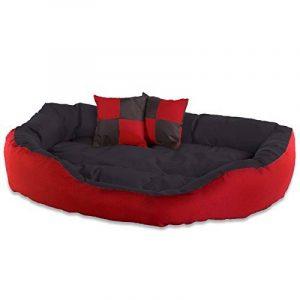 dibea Lit/Coussin/Canapé Lavable avec Coussin Réversible pour Chien Rouge/Noir 110 x 80 x 23 cm de la marque dibea image 0 produit